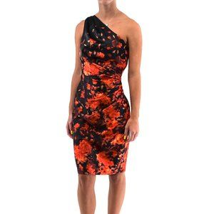 MAGGY LONDON One Shoulder Floral Dress #V14